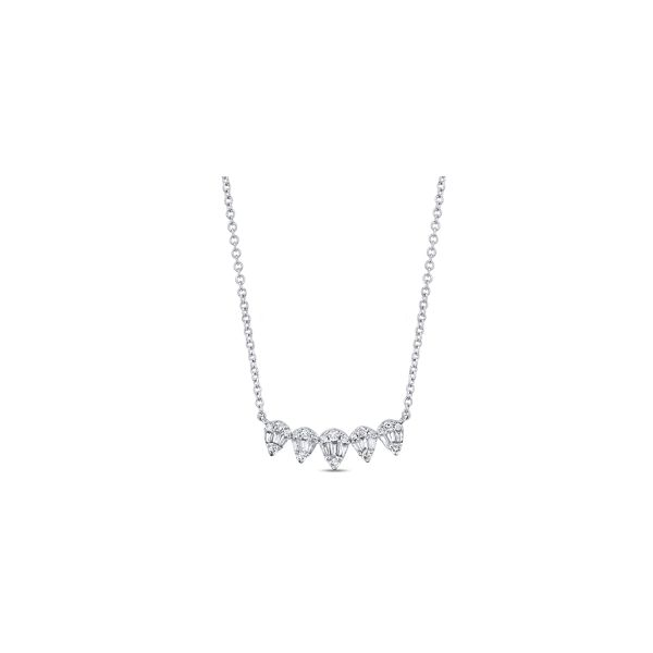 14k White Gold Necklace 1/4 ct. tw.