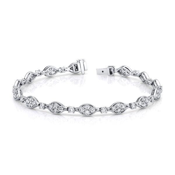 14k White Gold Bracelet 3 3/4 ct. tw.