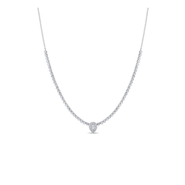 Shy Creation 14k White Gold Necklace 1 1/4 ct. tw.