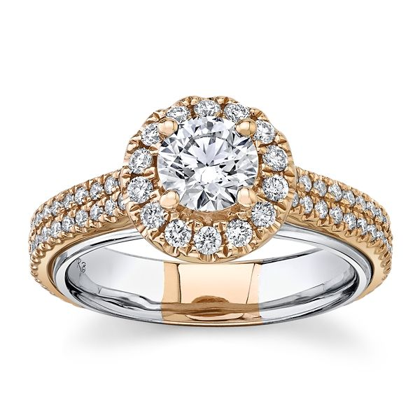 Eternalle Lab-Grown 14k White Gold and 14k Rose Gold Diamond Engagement Ring 1 1/4 ct. tw.