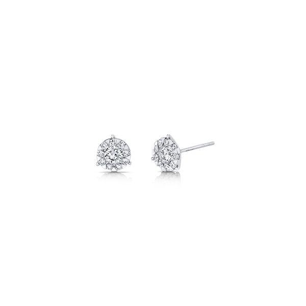 Memoire 18k White Gold Earrings 7/8 ct. tw.