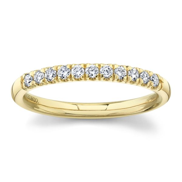 Gabriel & Co. 14k Yellow Gold Diamond Wedding Band 1/5 ct. tw.