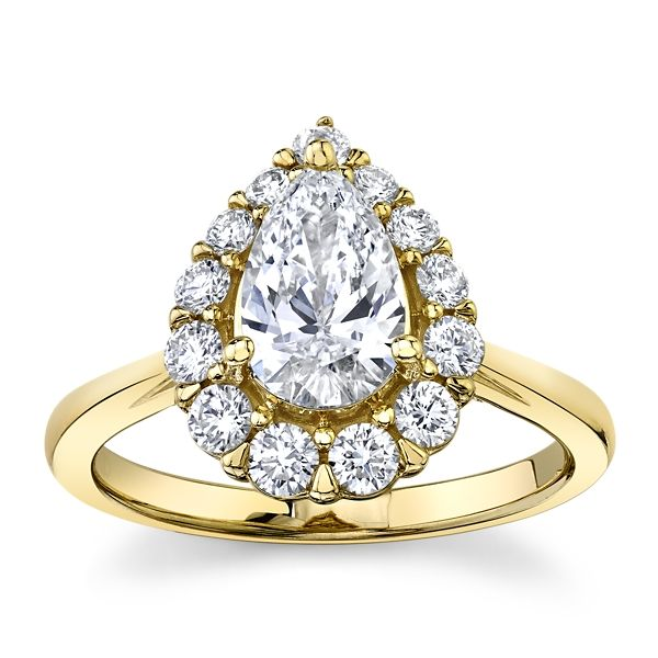 Eternalle Lab-Grown 14k Yellow Gold Diamond Engagement Ring 1 1/2 ct. tw.