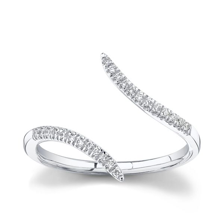 Gabriel & Co. 14k White Gold Diamond Wedding Band 1/10 ct. tw.