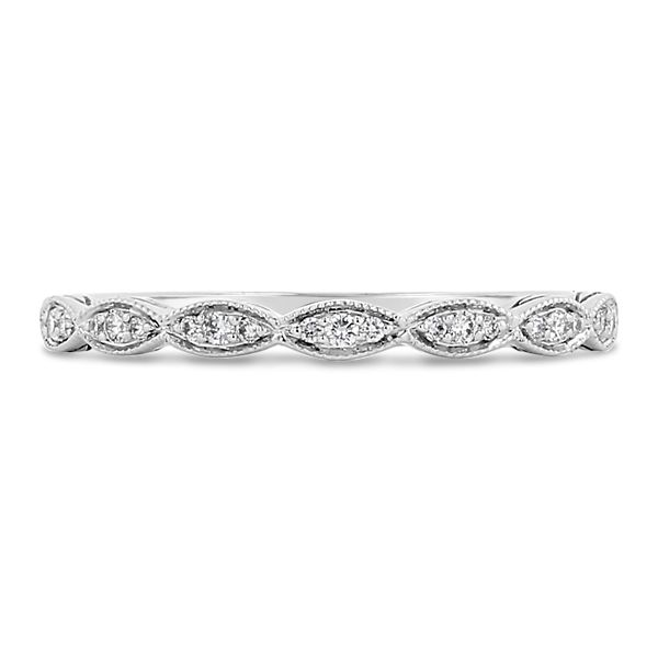 Coast Diamond 14k White Gold Diamond Wedding Band .07 ct. tw.