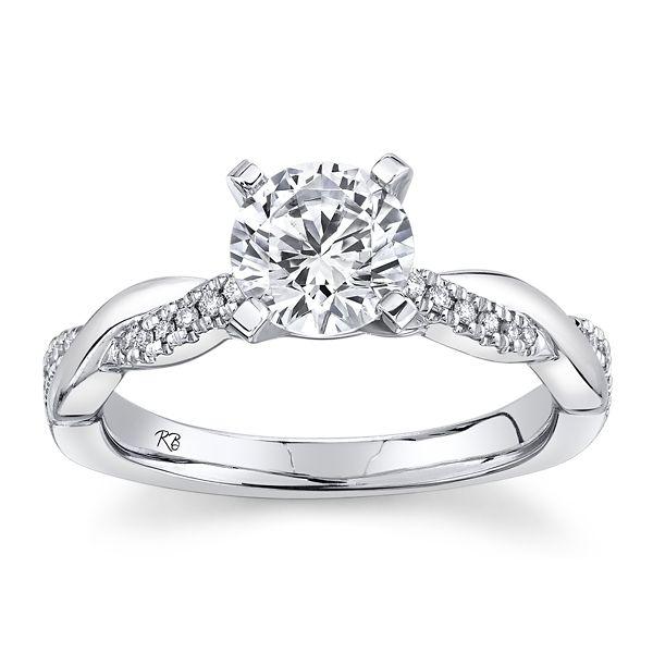 RB Signature 14k White Gold Diamond Engagement Ring Setting 0.07 ct. tw.