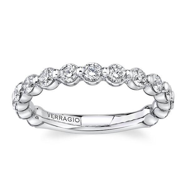 Verragio 14k White Gold Diamond Wedding Band 7/8 ct. tw.