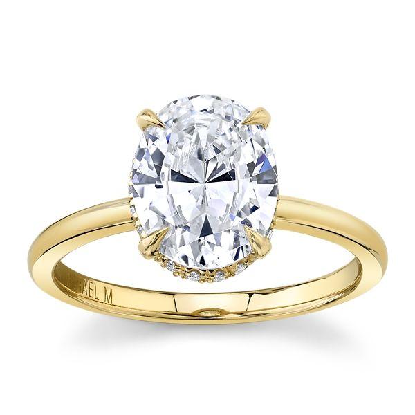 Michael M. 18k Yellow Gold Diamond Engagement Ring Setting 1/10 ct. tw.