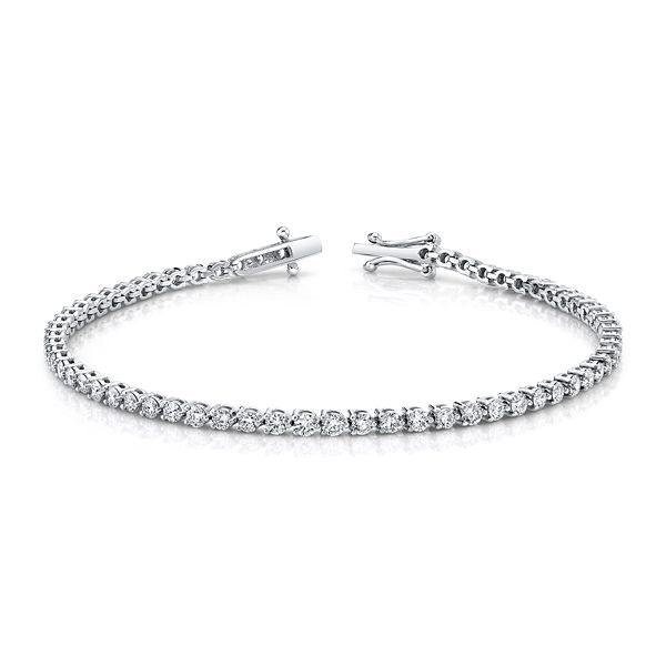 14k White Gold Bracelet 3 ct. tw.