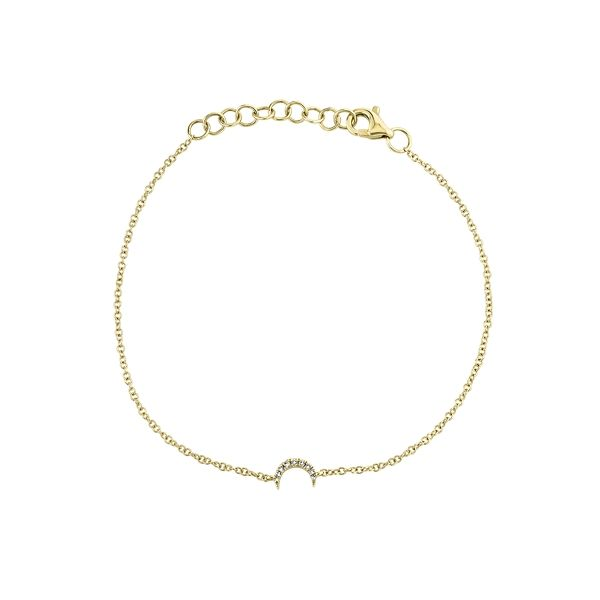 Shy Creation 14k Yellow Gold Bracelet .01 ct. tw.