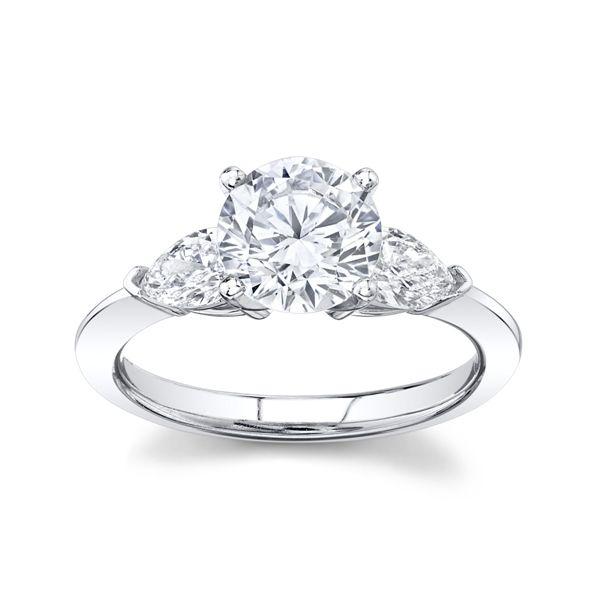 RB Signature 14k White Gold Diamond Engagement Ring Setting 1/2 ct. tw.