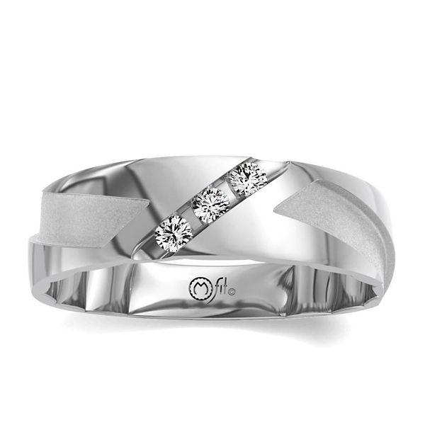 MFit 14k White Gold Diamond Wedding Band 1/4 ct. tw.