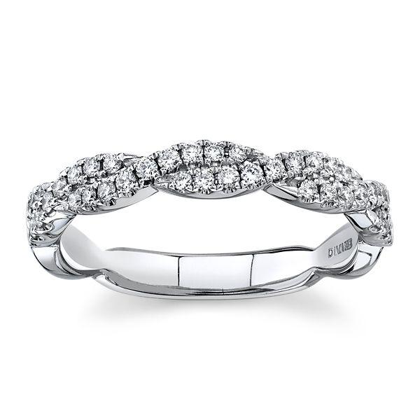 Divine 18k White Gold Diamond Wedding Band 1/4 ct. tw.