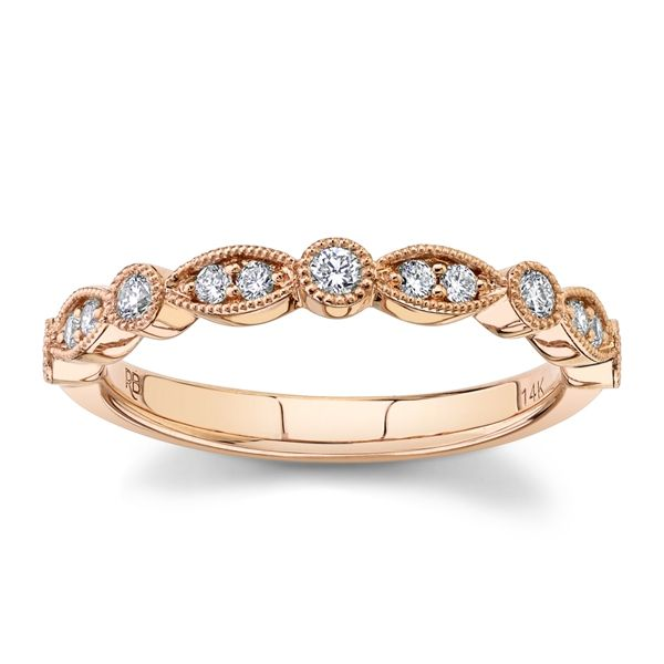 RB Signature 14k Rose Gold Diamond Wedding Band 1/5 ct. tw.