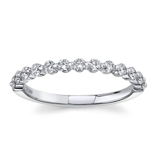 Henri Daussi 14k White Gold Diamond Wedding Band 3/8 ct. tw.