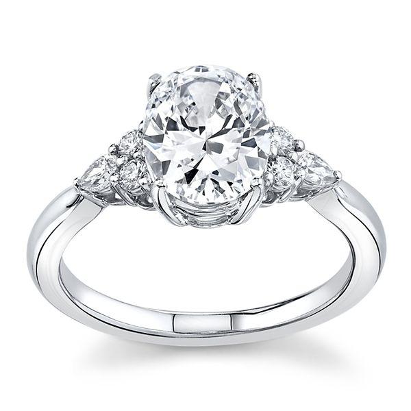 RB Signature 14k White Gold Diamond Engagement Ring Setting 1/6 ct. tw.