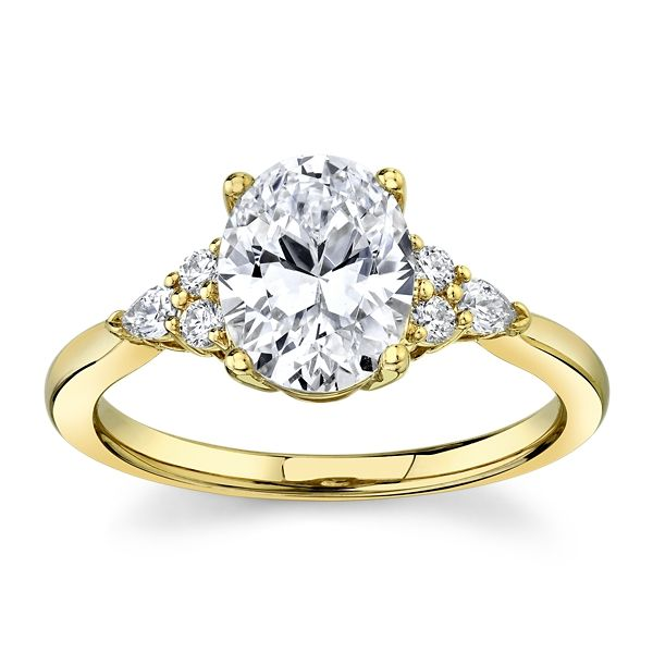 RB Signature 14k Yellow Gold Diamond Engagement Ring Setting 1/6 ct. tw.