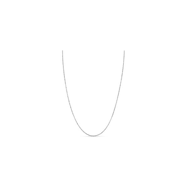 "14k White Gold 18"" Margarita Chain"