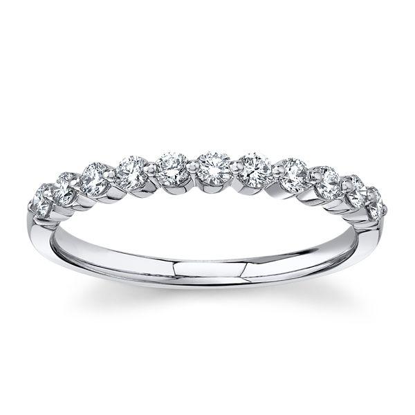 Divine 18k White Gold Diamond Wedding Band 1/3 ct. tw.
