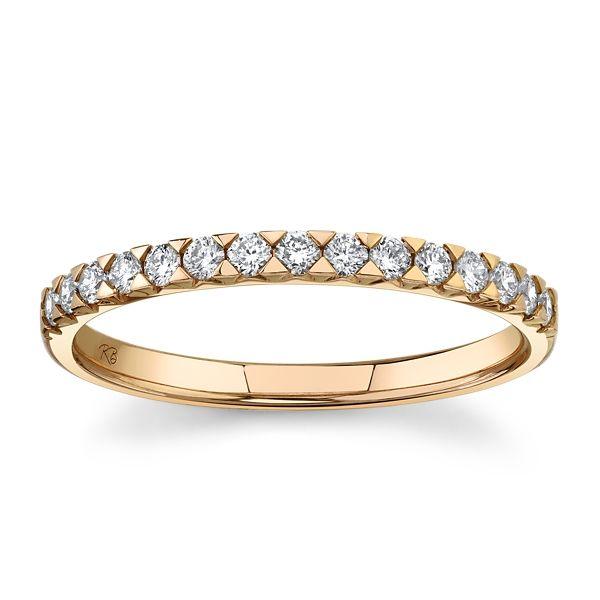 14k Rose Gold Diamond Wedding Band 1/4 ct. tw.