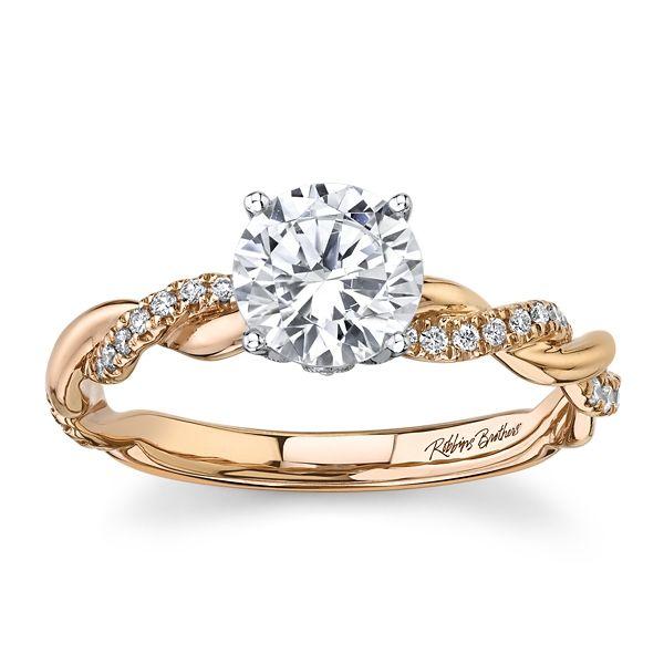 RB Signature 14k Rose & 14k White Gold Diamond Engagement Ring Setting 1/6 ct. tw.