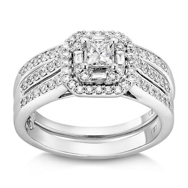 14k White Gold Diamond Wedding Set 3/4 ct. tw.