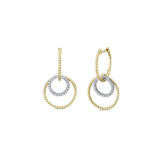 Gabriel & Co. 14k White Gold and 14k Yellow Gold Earrings 1/4 ct. tw.