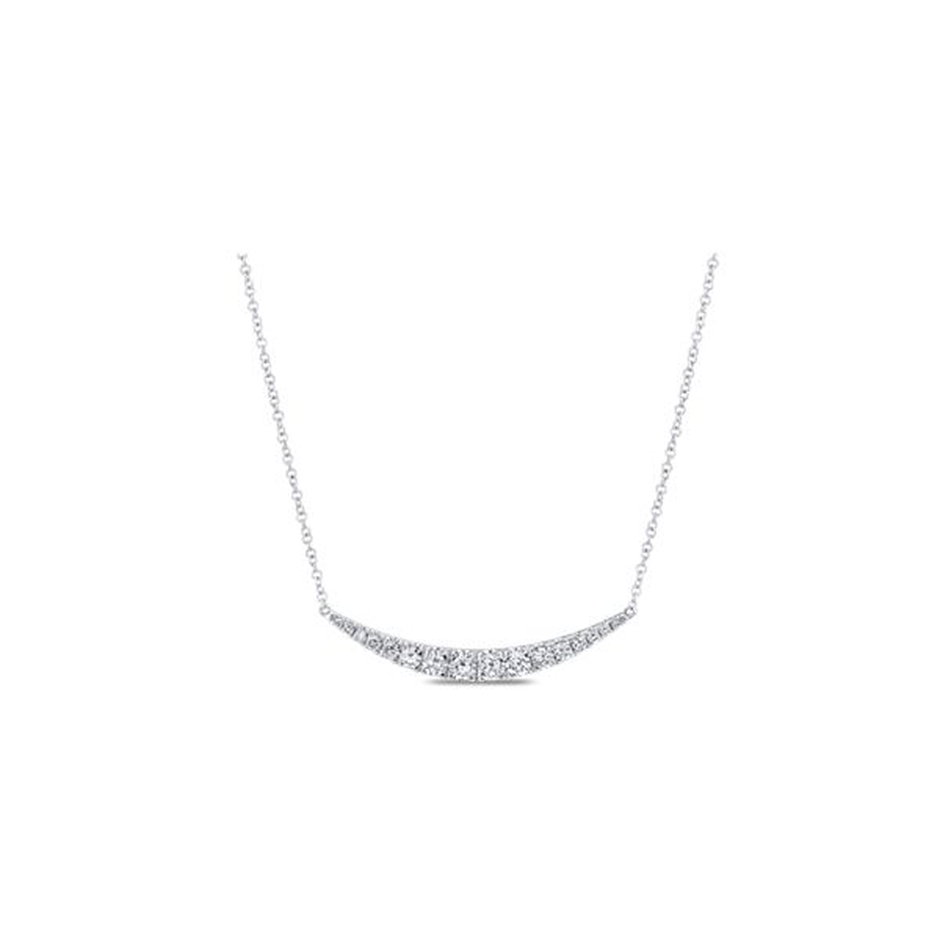 Gabriel & Co. 14k White Gold Necklace 1/2 ct. tw.