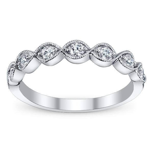 Cherish 14k White Gold Diamond Wedding Band 1/4 ct. tw.