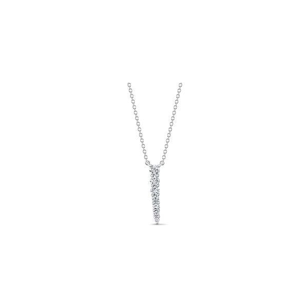 Memoire 18k White Gold Necklace 3/8 ct. tw.