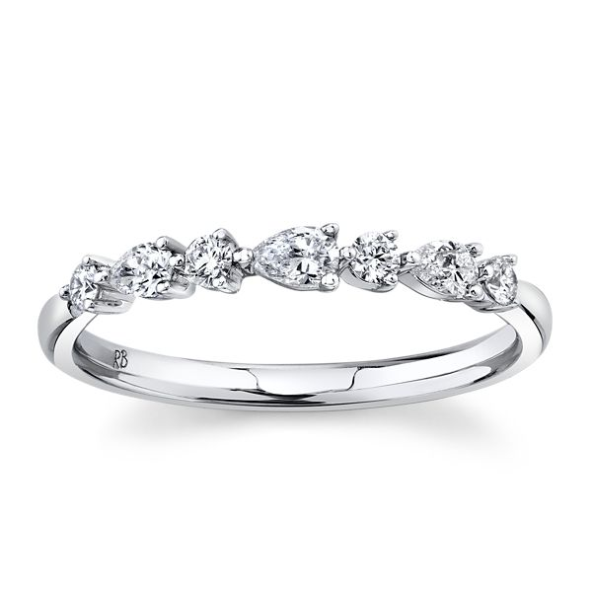 14k White Gold Diamond Wedding Band 1/3 ct. tw.