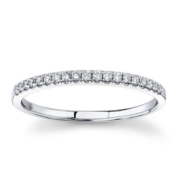 14k White Gold Diamond Wedding Band 1/5 ct. tw.