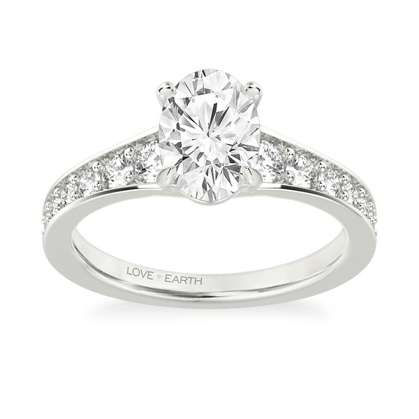 Love Earth 14k White Gold Diamond Engagement Ring Setting 3/4 ct. tw.
