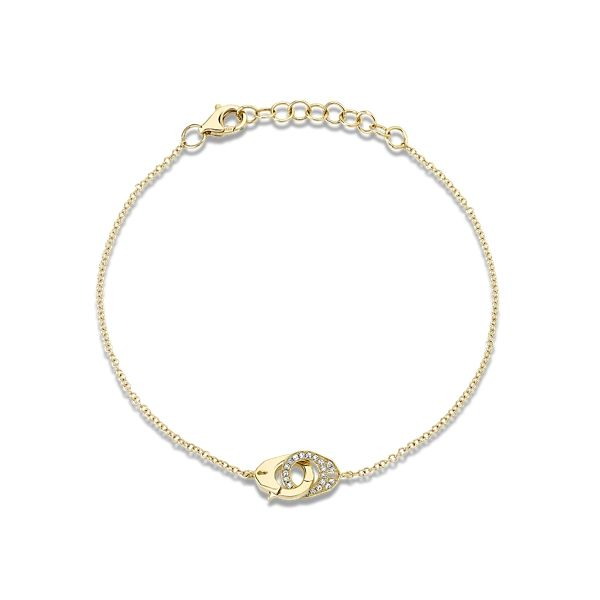 Shy Creation 14k Yellow Gold Bracelet 0.04 ct. tw.