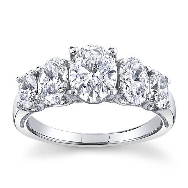 Eternalle Lab-Grown 14k White Gold Diamond Engagement Ring 2 1/3 ct. tw.
