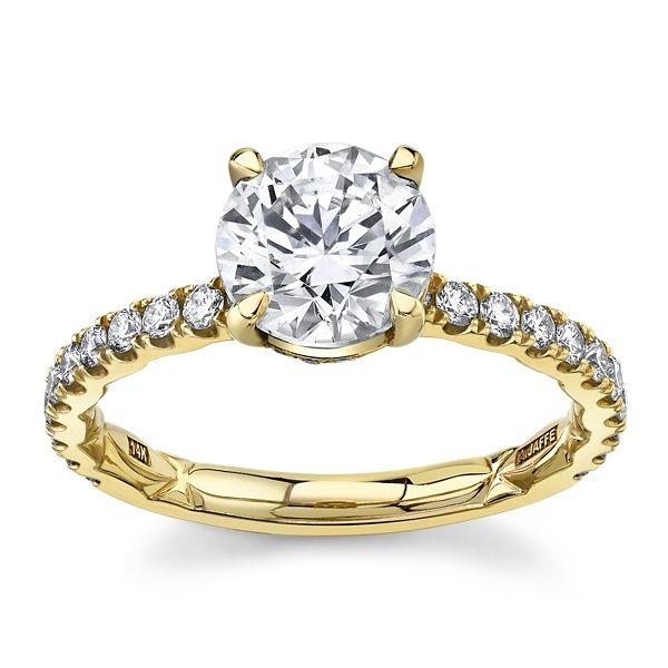 A. Jaffe 14k Yellow Gold Diamond Engagement Ring Setting 3/8 ct. tw.