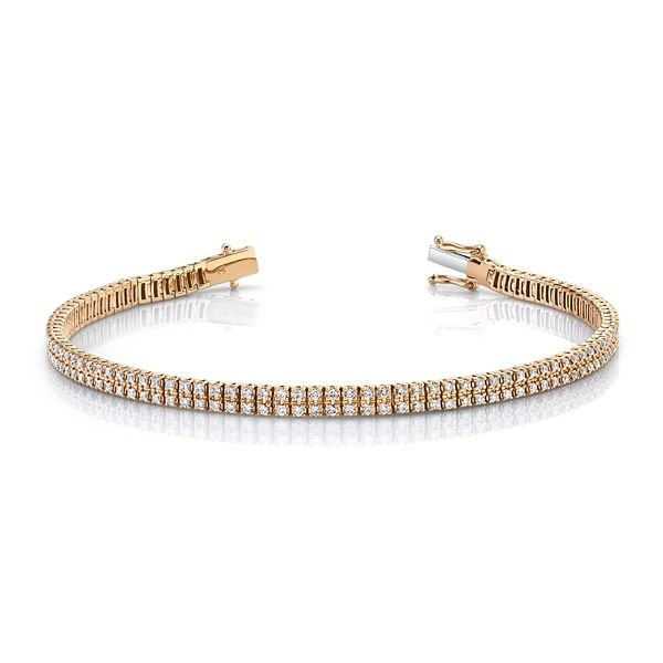 14k Rose Gold Bracelet 7/8 ct. tw.