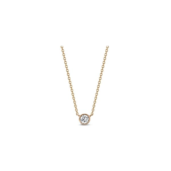 Eternalle Lab-Grown 14k Rose Gold Pendant 1/2 ct. tw.