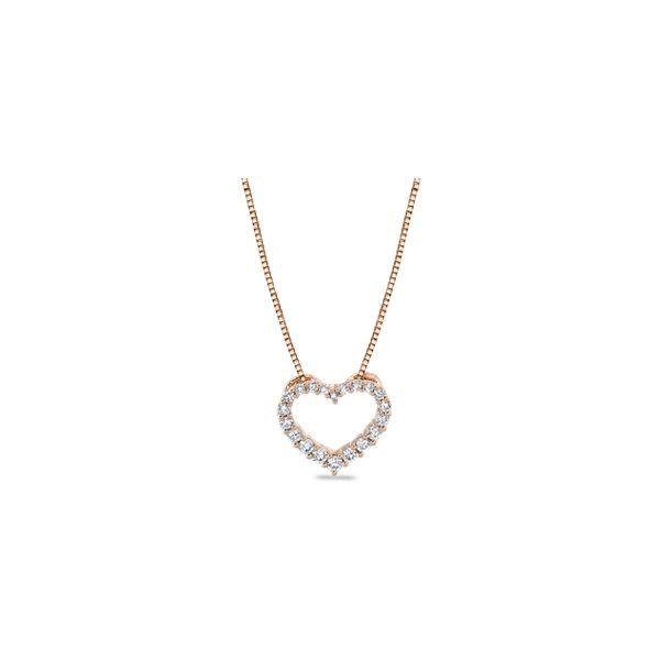14k Rose Gold Heart Pendant 1/4 ct. tw.