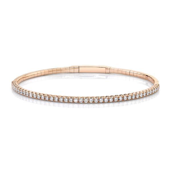 14k Rose Gold and Titanium Bracelet 1 ct. tw.