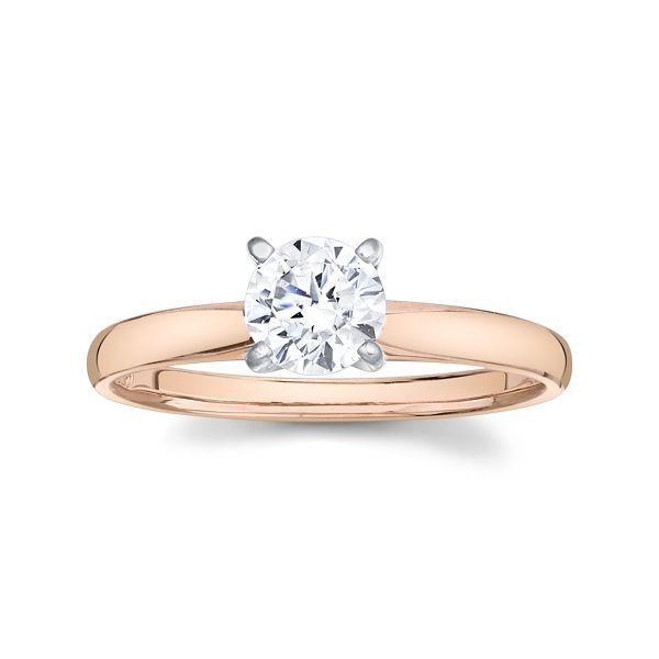 14k Rose and 14k White Gold Engagement Ring Setting