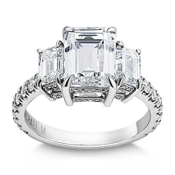Michael M. 18k White Gold Diamond Engagement Ring Setting 1 1/2 ct. tw.