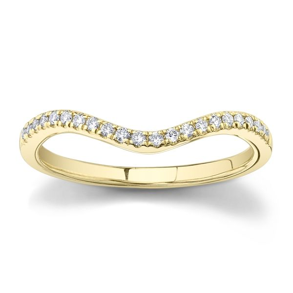 Suns and Roses 14k Yellow Gold Diamond Wedding Band 1/10 ct. tw.