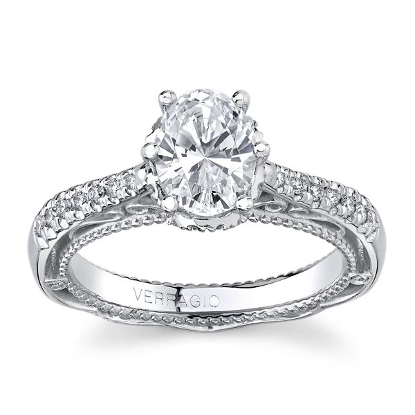 Verragio 18k White Gold Diamond Engagement Ring Setting 1/4 ct. tw.