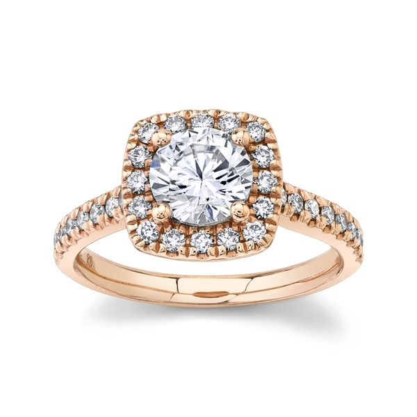Gem Quest Bridal 14k Rose Gold Diamond Engagement Ring Setting 1/3 ct. tw.