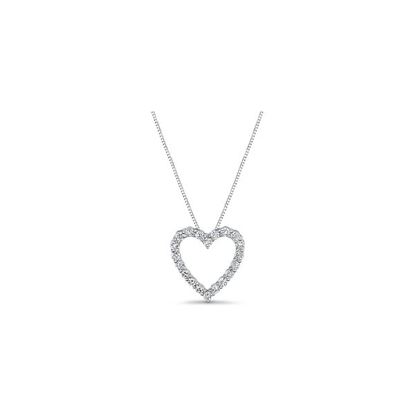 Eternalle Lab-Grown 14k White Gold Pendant 1/2 ct. tw.