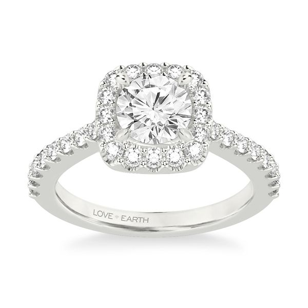 Love Earth 14k White Gold Diamond Engagement Ring Setting 5/8 ct. tw.