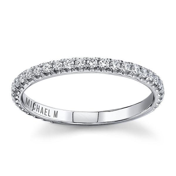 Michael M. 18k White Gold Diamond Wedding Band 1/3 ct. tw.