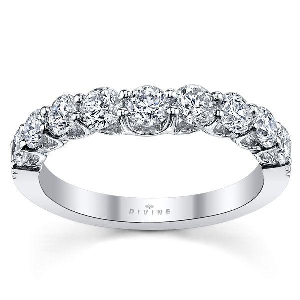 Divine 18k White Gold Diamond Wedding Band 1 ct. tw.
