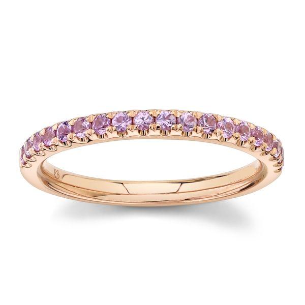 14k Rose Gold Pink Sapphire Fashion Ring